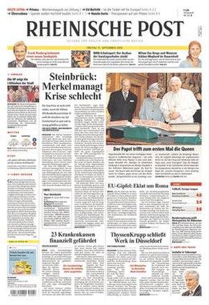 Rheinische Post - Image: Rheinische Post front page