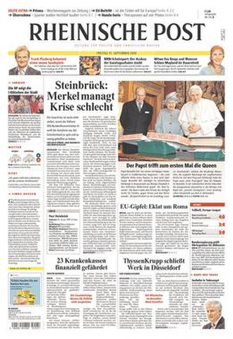 Rheinische Post - The 17 September 2010 front page