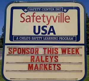 Safetyville USA - Image: Safetyville USA Sign