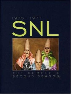 The title card for the second season of Saturday Night Live.