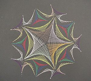 String art - String art, created with thread and paper.