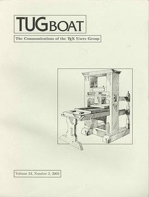 TUGboat - Image: TU Gboat journal cover Volume 24, Number 2, 2003