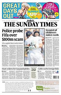 <i>The Sunday Times</i> British weekly newspaper