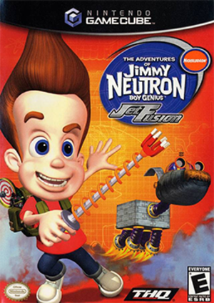 The Adventures of Jimmy Neutron Boy Genius: Jet Fusion - North American GameCube cover art