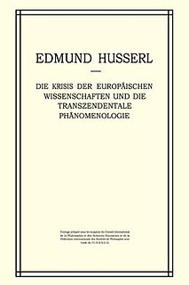 <i>The Crisis of European Sciences and Transcendental Phenomenology</i> book by Edmund Husserl