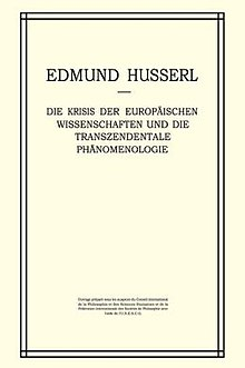The Crisis of European Sciences and Transcendental Phenomenology (German edition).JPG