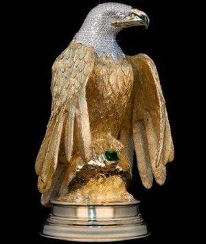 Atocha Star Emerald - The Golden Eagle standing watch over the Atocha Star emerald