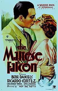 <i>The Maltese Falcon</i> (1931 film) 1931 American crime film directed by Roy Del Ruth