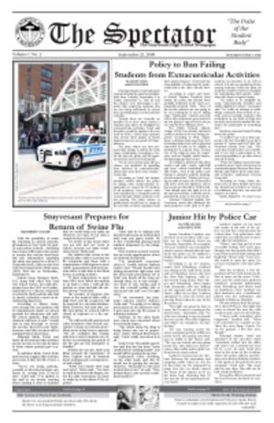 Student publication - Stuyvesant High School newspaper