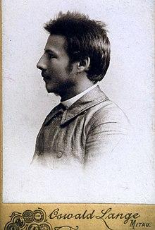 Vincas Mickeviius Kapsukas In Jelgava Gymnasium 1901