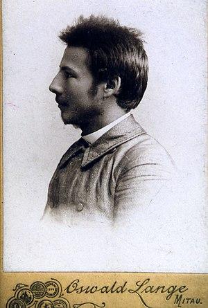 Vincas Mickevičius-Kapsukas - Vincas Mickevičius-Kapsukas in Jelgava Gymnasium in 1901.