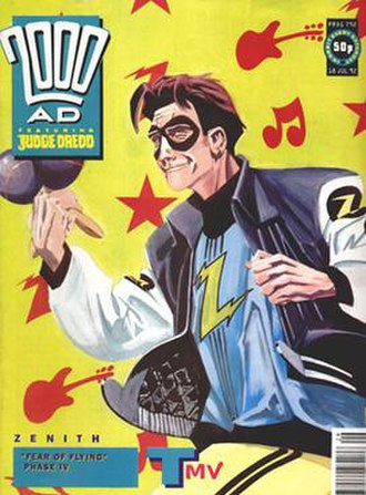 Zenith (comics) - Zenith on the cover of 2000 AD prog 792, by Steve Yeowell