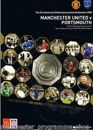 2008 FA Community Shield - Match programme cover