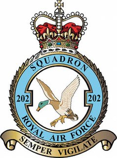 No. 202 Squadron RAF Flying squadron of the Royal Air Force