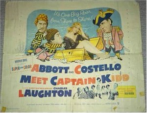 Abbott and Costello Meet Captain Kidd - Theatrical release poster