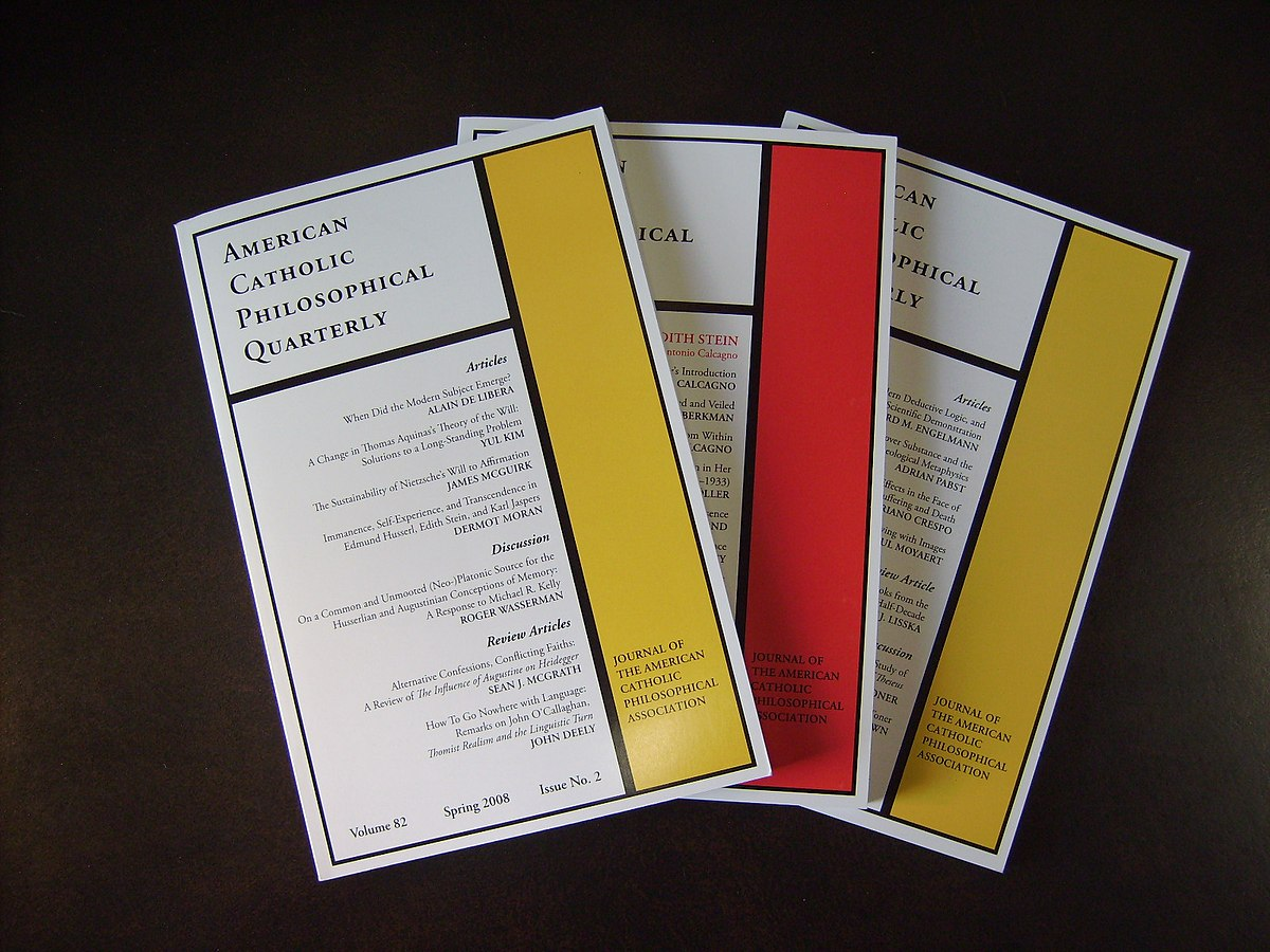 Px American Catholic Philosophical Quarterly Three Issues
