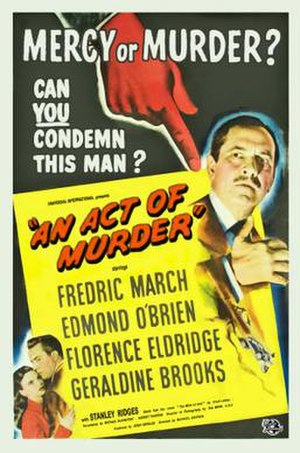 An Act of Murder - Image: An Act of Murder Film Poster