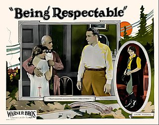 <i>Being Respectable</i> 1924 film
