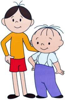 <i>Bolek and Lolek</i> two cartoon characters from Polish TV animated comedy series for children