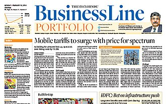 Business Line - The front page business line
