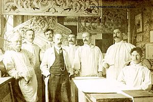 Carl Bernard Bartels - Bartels (3rd from right), around the turn of the century.
