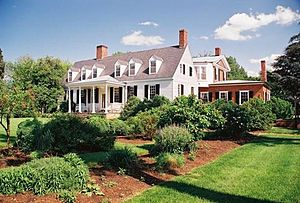 Castle Hill (Virginia) - Castle Hill mansion and grounds