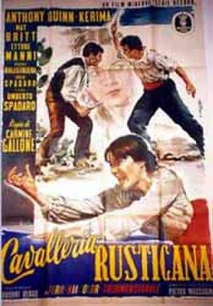 Fatal Desire (film) - Image: Cavalleria Rusticana Film Poster 1953
