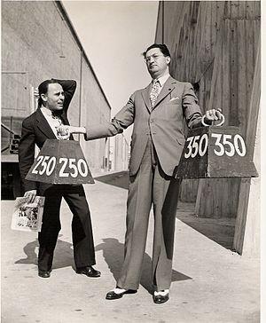Showmen's Trade Review - Showmen's Trade Review publisher and editor-in-chief Chick Lewis and STR west coast representative Joe Blair at Warner Studio, Burbank, California, 1936