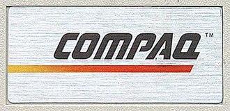 Compaq Portable - Image: Compaq Logo On Compaq Portable