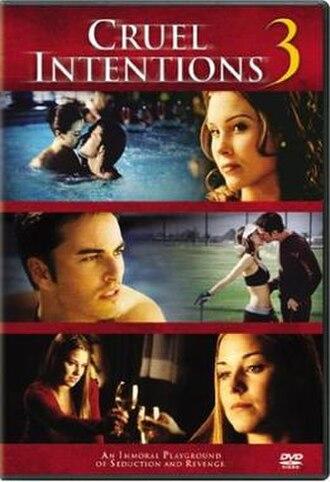 Cruel Intentions 3 - DVD cover