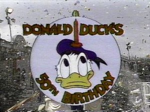Donald Duck's 50th Birthday - Logo used by Disney in the birthday tour and the CBS television special