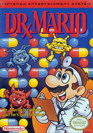 Dr. Mario - Box art (NES version)