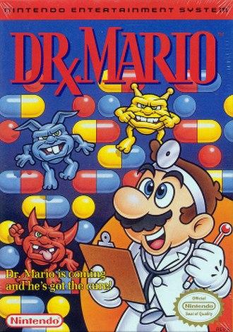Dr. Mario - Box art (NES version)