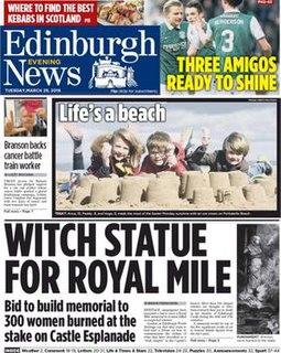 <i>Edinburgh Evening News</i> Daily newspaper located in Edinburgh, Scotland