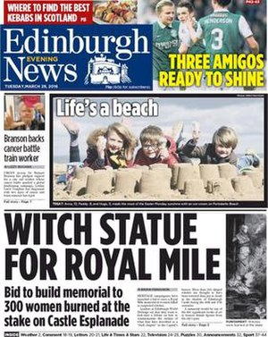 Edinburgh Evening News - Edinburgh Evening News cover (29 March 2016)