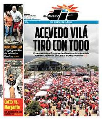 El Nuevo Día - Front page of El Nuevo Día for 26 July 2008