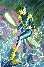 4ac26a1ae The second Electro, Francine Frye, in the cover of The Amazing Spider-Man  vol. 4, #17, art by Alex Ross