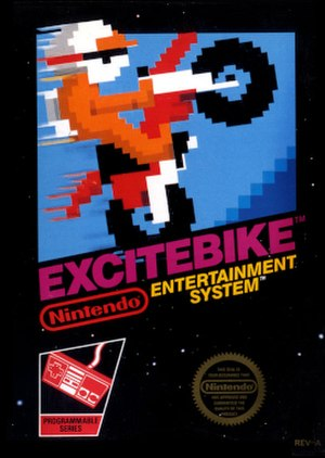 Excitebike - Packaging artwork released in North America.