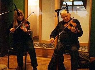 Mairéad Ní Mhaonaigh - Mairéad performing with her father.