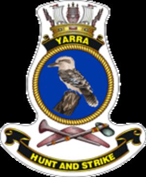 HMAS Yarra (M 87) - Ship's badge