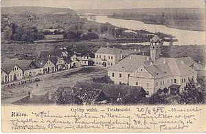 Halych - Old Austrian postcard with a view of Halych.