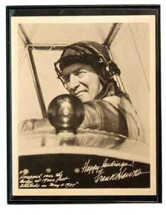 Glider (sailplane) - Frank Hawks in the Texaco Eaglet, postcard, c. 1930