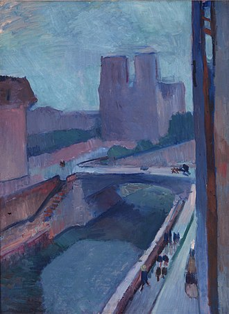 Notre-Dame, une fin d'après-midi - Image: Henri Matisse, 1902, Notre Dame, une fin d'après midi, oil on paper mounted on canvas, 72.4 x 54.6 cm, Albright Knox Art Gallery