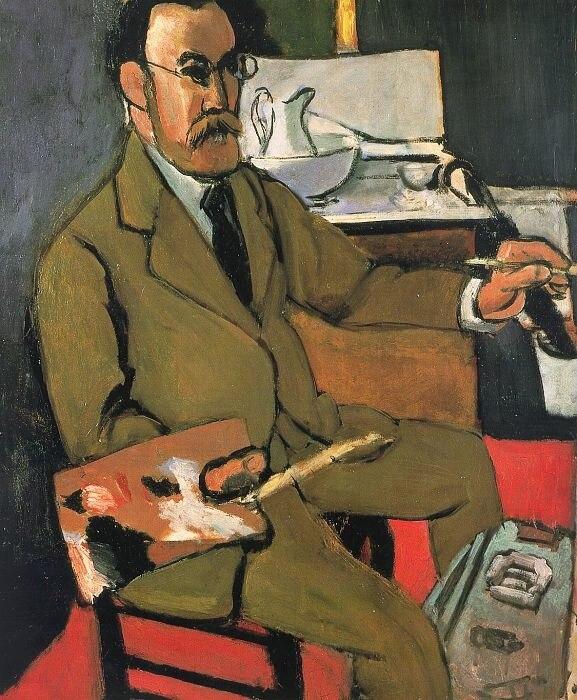 Henri Matisse, 1918, Portrait du peintre (Autoportrait, Self-portrait), oil on canvas, 65 x 54 cm, Matisse Museum (Le Cateau)