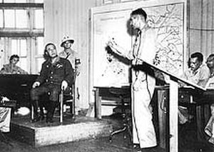 Hong Sa-ik - Hong (left seated) at his war crimes trial in 1946
