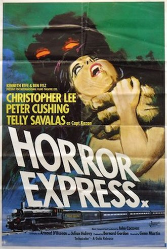 Horror Express - UK quad release poster