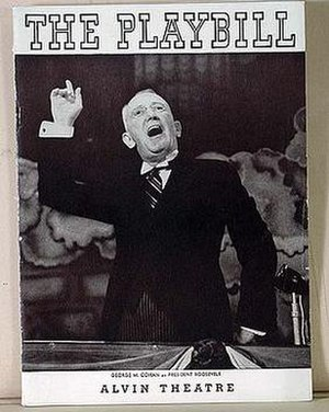 I'd Rather Be Right - Original 1937 Playbill Cover, depicting George M. Cohan as Franklin D. Roosevelt