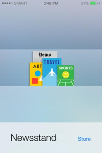 Newsstand (software) - Image: IOS Newsstand