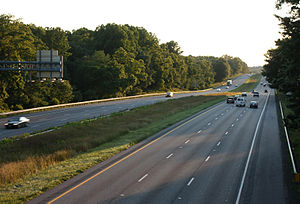 West Friendship, Maryland - Interstate 70 through West Friendship.