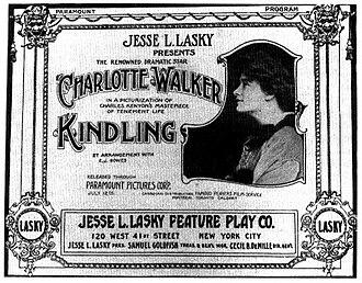 Kindling (film) - 1915 lobby poster